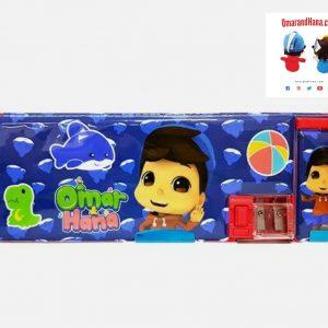 Omar & Hana YouTube Stars Blue Magnetic Pencil Case