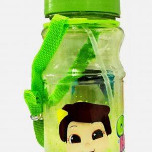 Omar & Hana YouTube Stars Green Water Bottle 460ML With Slide Cap and Strap