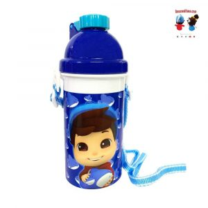 Omar & Hana YouTube Stars Blue Omar Water Bottle 500ML With Smart Straw and Strap
