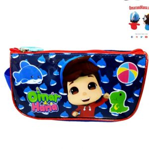 Omar & Hana YouTube Stars Blue Fabric Pencil Bag With Unique Logo Tag on Zip