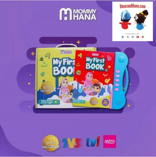 Mommy Hana YouTube Stars Interactive Learning Book English,Malay,Islamic Prayers,Wuzu