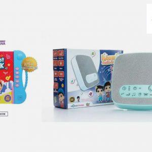 Mommy Hana YouTube Stars Interactive Learning Book & Blue Islamic Audio Device Bundle Deal