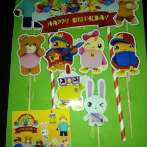 Didi & Friends (DDNF) YouTube Stars Cake Toppers DESIGN 2 Hand-Crafted 100% Profit Share.